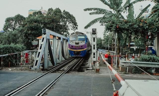 Saigon train street
